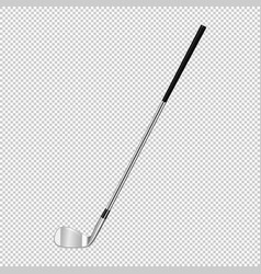 realistic icon of classic golf club isolated on vector image