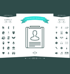 resume line icon vector image