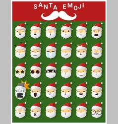 Santa claus emoji icons vector