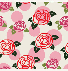 seamless floral pattern with symbols roses vector image