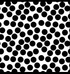 seamless pattern big black chaotic dots vector image