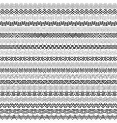 Set of vintage borders for design vector