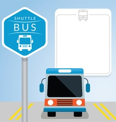 Shuttle Bus with Sign Front View vector image