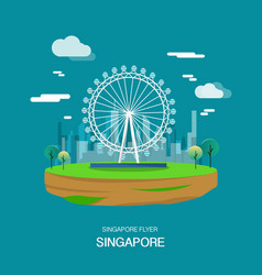 Singpore flyer landmark and attractive place in vector