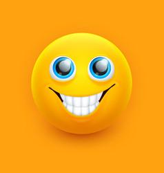 smile emoji face cute eyes emoticon symbol vector image
