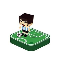 soccer player isometric cartoon vector image