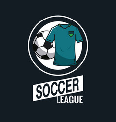 soccer tournament league vector image