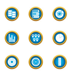 Speck icons set flat style vector