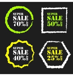 Super sale badge vector image