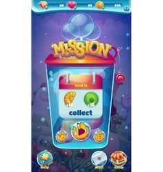Sweet world mobile GUI mission collect window vector image