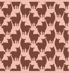 trendy cartoon alpaca llamas silhouette seamless vector image