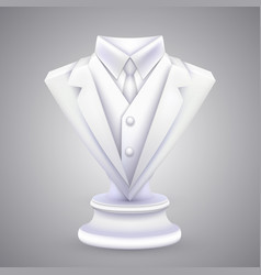 Triangle jacket and tie statue vector
