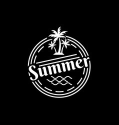 vintage summer logo design template vector image