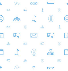 Website icons pattern seamless white background vector