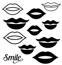 Woman lips design elements vector image