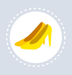 Women shoes shopping icon fashion shop logo flat vector
