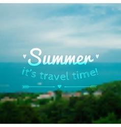 blurred summer landscape background vector image vector image