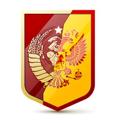 Coat of arms Soviet Union and Russia vector image vector image