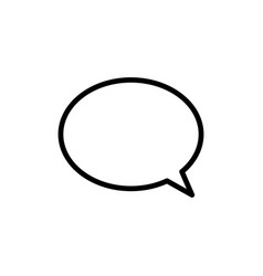 thin line chat speech bubble chatting icon vector image vector image
