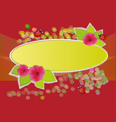 with flowers and summer beetles for books and vector image vector image
