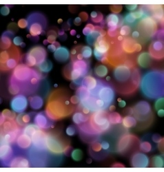 Bokeh blurred lights on dark background EPS 10 vector image vector image