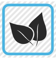 Flora plant icon in a frame vector