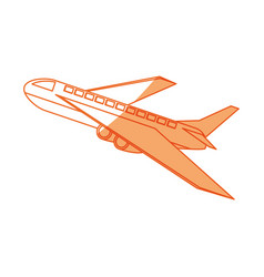 isolated airplane taking off vector image
