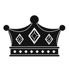 prince crown icon simple style vector image vector image