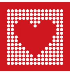 dot heart vector image vector image