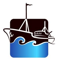 fishing boat design vector image