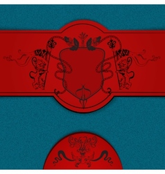 Heraldic colored background vector image vector image
