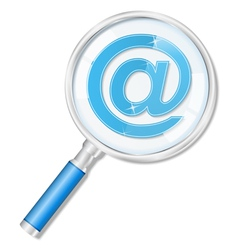Magnifying glass with email symbol vector image vector image