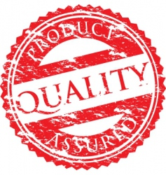 quality logo vector image vector image