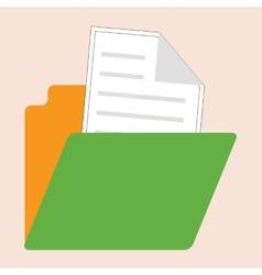 retro style open folder icon vector image