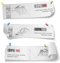 Set of Architectural Web Banners vector image