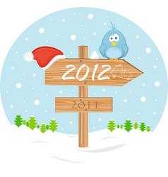 2012 christmas sign vector
