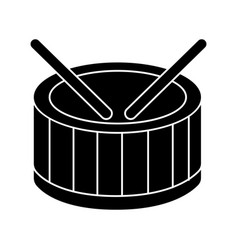 drums icon black sign on vector image