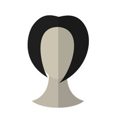flat icon hairstyle brunette hair wig vector image vector image