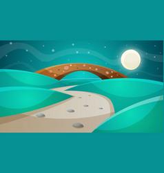 night bridge - cartoon vector image