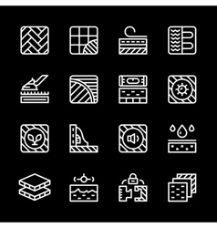 Set line icons of floor vector image