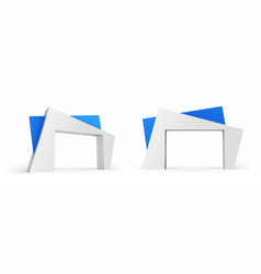 3d arch modern architecture abstract design vector