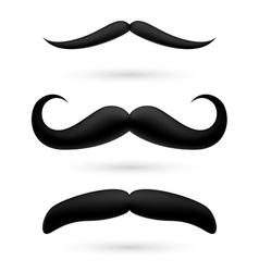 A set three moustache vector