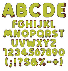 alphabet letters punschrulle dammsugare vector image