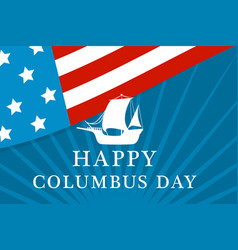 american columbus day concept background flat vector image