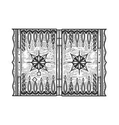 Backgammon game sketch vector