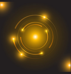 beautiful golden glowing circle light vector image
