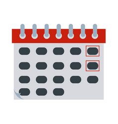 calendar reminder date time flat style icon vector image