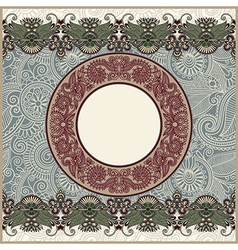 circle christmas vintage template vector image