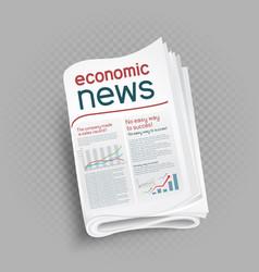 Economic newspaper press icon vector