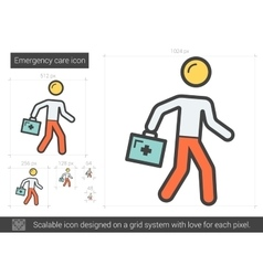 Emergency care line icon vector image
